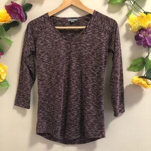4/$20🍄 Warehouse One Basic V-Neck 3/4 sleeves Top